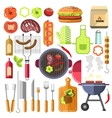Barbecue design elements grill summer food vector image