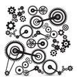 cogs gears retro machinery symbol vector image