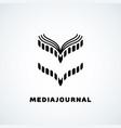 media journal vector image