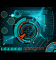 abstract future concept futuristic blue vector image vector image