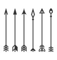 arrows set on white background vector image vector image