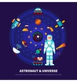 Astronaut And Universe Set vector image