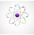 Atom background vector image vector image