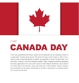 Banner design elements for Canada Day 1st of July vector image vector image
