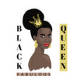 black queen fabulous fashion portraiteps vector image