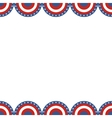 Border of American flag vector image vector image
