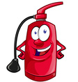 Cartoon Character of fire extinguisher vector image