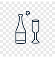 champagne concept linear icon isolated on vector image