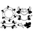 cherry blossom shapes dividers frames and vector image vector image