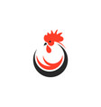 chicken logo vector image