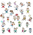 Childrens drawings of doodle people vector image vector image