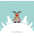 Christmas Rudolph Rednosed Reindeer Card vector image vector image