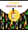 cognac and cocktail icon bar banner vector image vector image