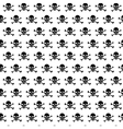 Crossbones and skull pattern vector image