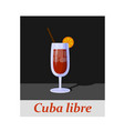 cuba libre cocktail menu item or any kind of vector image vector image