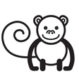 Cute animal monkey vector image