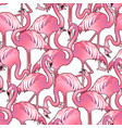 cute graphic flamingo pattern vector image