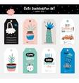 Cute Summer Scandinavian Set vector image vector image