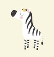 cute zebra princess vector image vector image