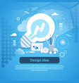 design idea web development template banner with vector image vector image