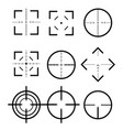 different icon set of targets and destination vector image vector image
