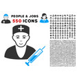 doctor icon with bonus vector image vector image