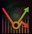 economic recovery k type after covid-19 crisis vector image vector image