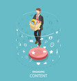 engaging content marketing isometric flat vector image vector image