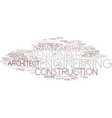 engineer word cloud concept vector image
