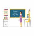 english teacher - cartoon people characters vector image