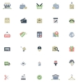 Flat shopping icon set vector image vector image