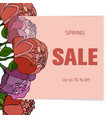 floral sale card vector image vector image