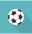 football icon flat design with long shadow vector image vector image