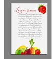 fruit background blank page vector image