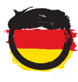 german circle flag vector image vector image