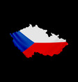hanging czech flag in form map czech republic vector image vector image