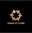 happy people network logo vector image vector image