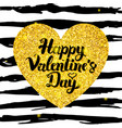 happy valentine day hand drawn card vector image vector image