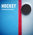 Hockey puck isolated on ice top view vector image