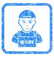 jobless framed stamp vector image vector image
