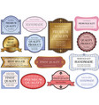 labels set 1 vector image vector image