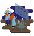 laboratory scientists conduct research and vector image vector image