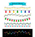 light decoration christmas bulb garlands vector image