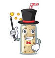 magician sweet banana smoothie isolated on mascot vector image vector image