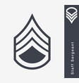 military ranks and insignia stripes and chevrons vector image vector image