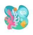 ocean acidification abstract concept vector image vector image