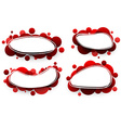 Oval backgrounds with red bubbles vector image vector image