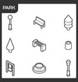 park outline isometric icons vector image vector image