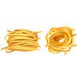 pasta noodles on white background