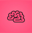 pink brain icon vector image